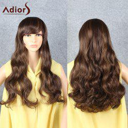 Adiors Long Shaggy Curly Side Bang Synthetic Hair