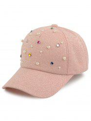 Multicolor Beads Faux Pearl Cannetille Baseball Hat