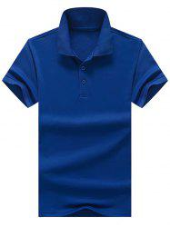 Side Slit Half Button Polo Shirt
