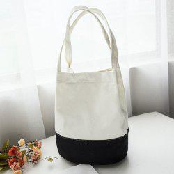 Canvas Contrast Color Shopper Bag