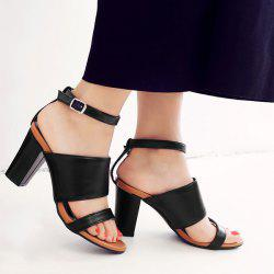 Block Heel Ankle Strap Sandals