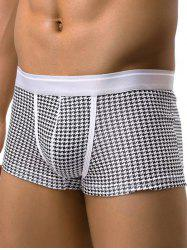 U Pouch Design Houndstooth Pattern Boxer Briefs
