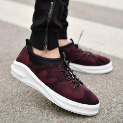 Camo Printed Stretch Fabric Casual Shoes