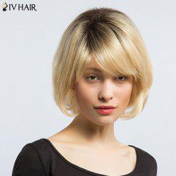 Siv Hair Side Bang Natural Straight Short Bob Human Hair Wig