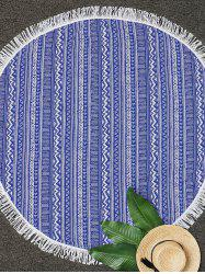 Round Geometric Fringe Beach Throw