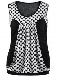 Polka Dot Plus Size T-shirt sans manches -