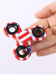 Stress Relief Toy Camouflage American Flag Finger Spinner - RED
