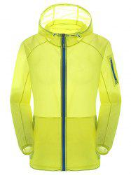 Hooded Anti UV Zip Up Sun Protection Lightweight Jacket