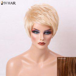 Siv Hair Layered Short Side Bang Pixie Straight Human Hair Wig