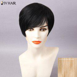 Siv Hair Pixie Side Bang Silky Straight Short Human Hair