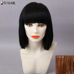 Siv Hair Short Full Bang Silky Straight Straight Bob Human Hair