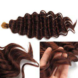 Wand Curl Pre Loop Crochet Long Hair Extensions - Brun-rouge