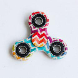 Fidget Spinner Triangulaire à Motif Zigzag Coloré Anti-stress -