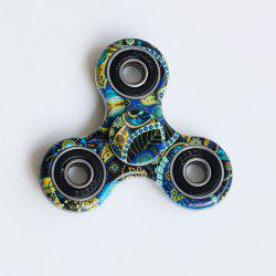 Focus Toy Bohemian Pattern Fidget Spinner - BLUE