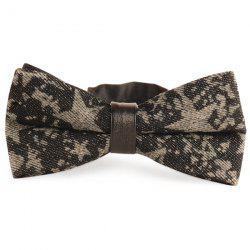 Stars Printed Denim Layered Bow Tie - SMOKY GRAY