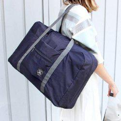 Foldable Waterproof Nylon Carryall Bag - DEEP BLUE