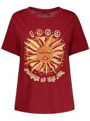 Short Sleeve 1969 Graphic Sun Print Tee