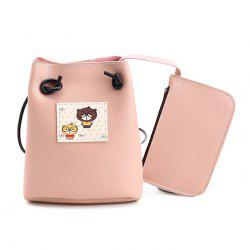 Pouch Bag and Cartoon Print Crossbody Bag