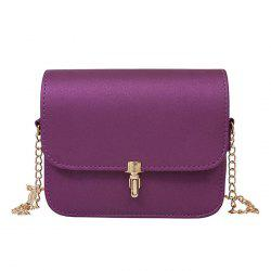 Push Lock Chain Cross Body Bag
