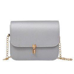 Push Lock Chain Cross Body Bag - SILVER