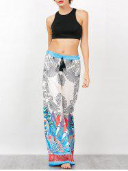 Sleeveless Crop Top and Bohemian Palazzo Pants - MULTI