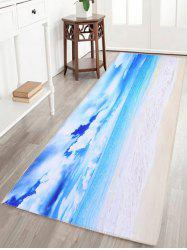 Sea View Print Skidproof Water Absorption Bath Mat - SKY BLUE