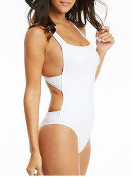 Criss Cross One Piece Backless Swimwear