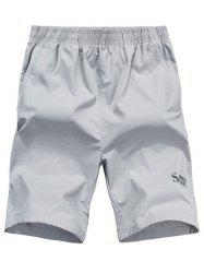 Zip Pocket Sports Shorts - LIGHT GRAY