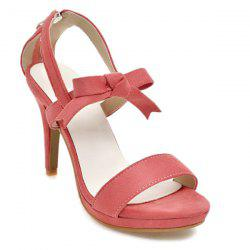 Zipper Bow Platform Sandals