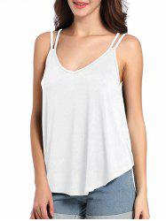 Loose Fit Cutout Spaghetti Strap Tank Top
