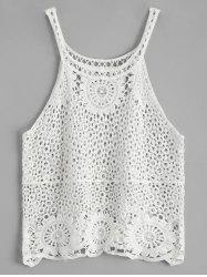 Crochet Lace See Through Openwork Tank Top