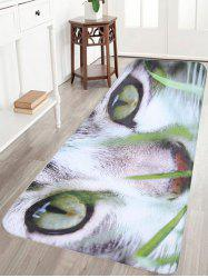 Cat Print Antiskid Flannel Bathroom Rug