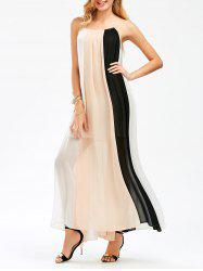 Color Block Flowing Maxi Cami Dress
