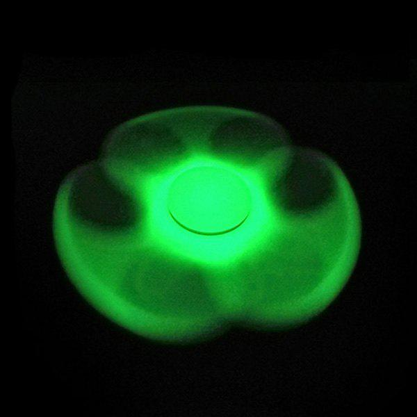 Glow in the dark Plastic Focus Toy Fidget SpinnerHOME<br><br>Color: GREEN; Products Type: Fidget Spinner; Theme: Funny; Frame material: Plastic; Features: Creative Toy; Shape/Pattern: Triangle; Swing Numbers: Tri-Bar; Weight: 0.0700kg; Package Contents: 1 x Fidget Spinner;
