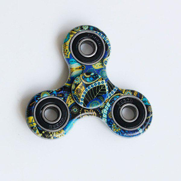 Focus Toy Bohemian Pattern Fidget SpinnerHOME<br><br>Color: BLUE; Products Type: Fidget Spinner; Theme: Funny; Frame material: Plastic; Features: Creative Toy; Shape/Pattern: Triangle; Swing Numbers: Tri-Bar; Weight: 0.0700kg; Package Contents: 1 x Fidget Spinner;