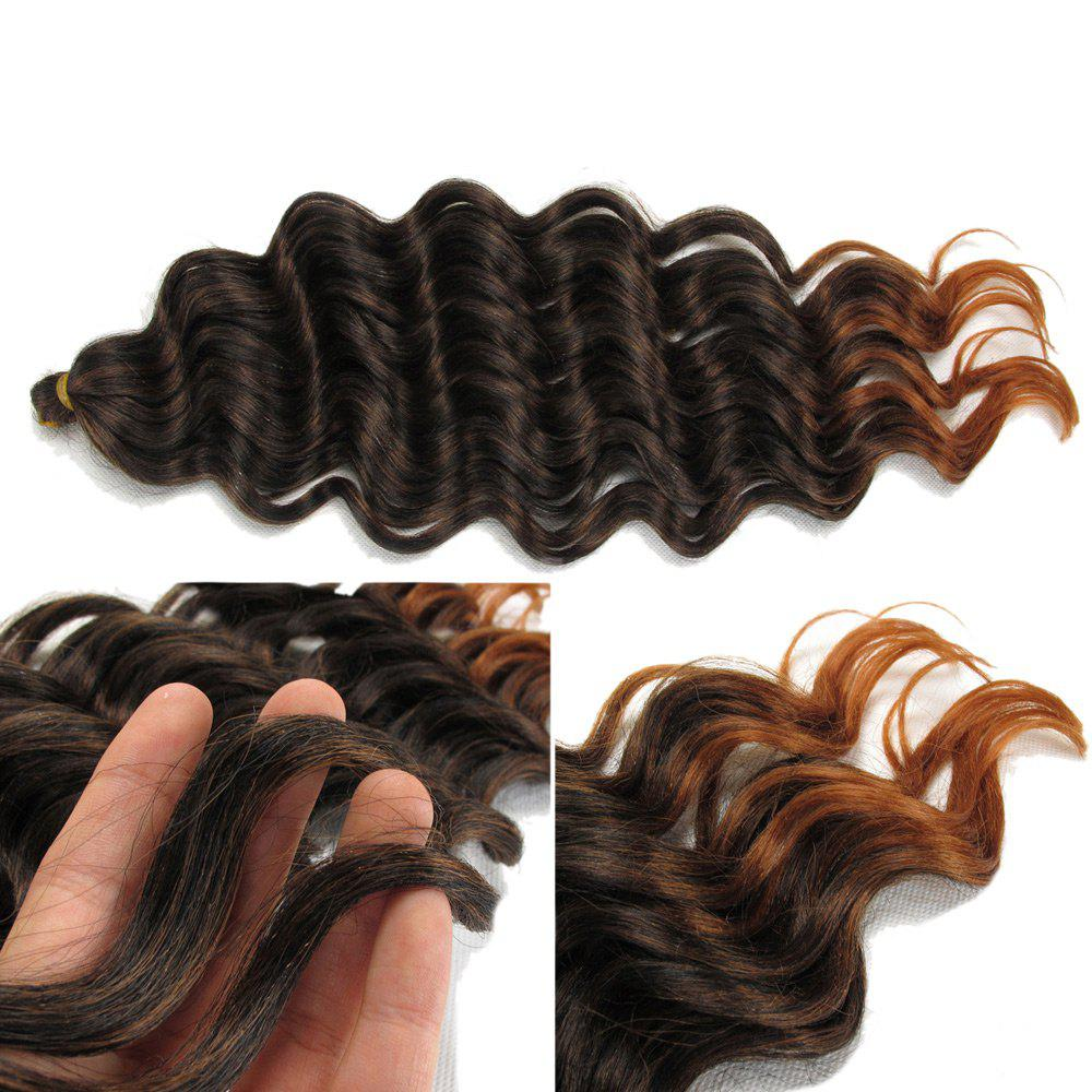 2018 Wand Curl Pre Loop Crochet Long Hair Extensions In Blackbrown