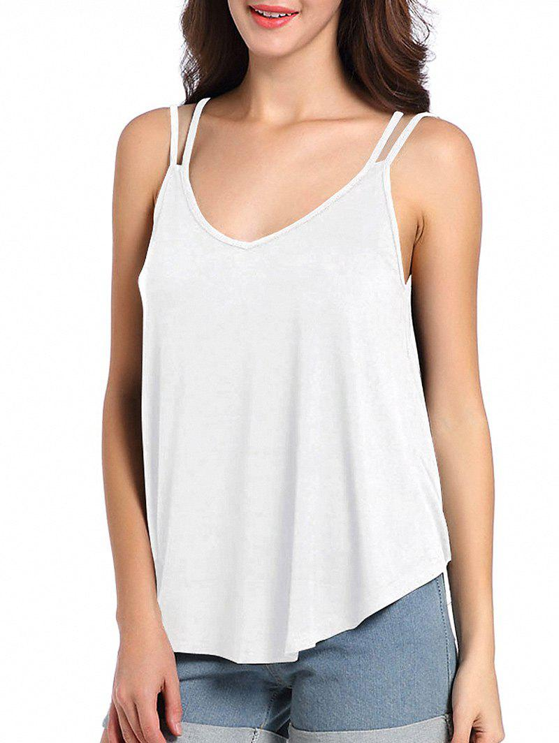 New Loose Fit Cutout Spaghetti Strap Tank Top