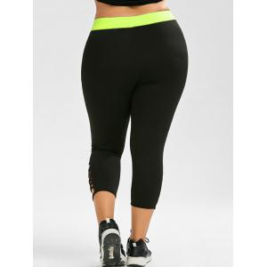 Active Plus Size Criss Cross Capri Leggings -