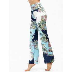 Ethnic Print High Waisted Boho Pants
