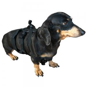 Adjustable Dog Harness Chest Mount for Gopro - Black