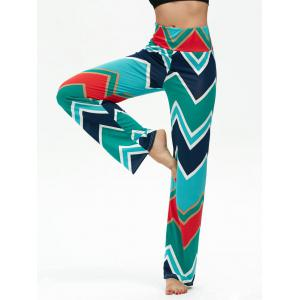 Chevron Print High Waisted Boho Pants