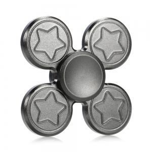 Finger Metal Fidget Spinner Toy with Star Print -
