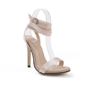 Strappy Stiletto Heel Sandals - APRICOT 40