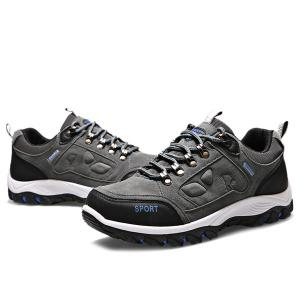 Metal Embellishment Suede Athletic Shoes -