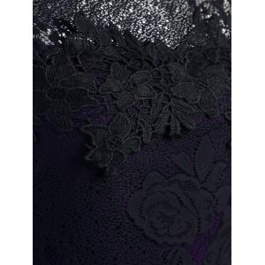 Lace Sleeveless Pencil Sheath Formal Dress - PURPLE S