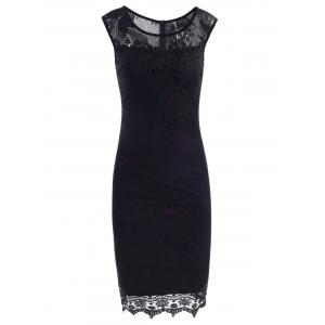 Lace Sleeveless Pencil Sheath Formal Dress