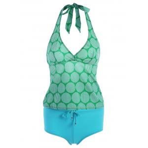 Halter Swim Top with Boyleg Brief Tankini
