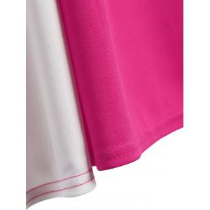 Robe sans manches A Two Line - Rose Rouge 2XL