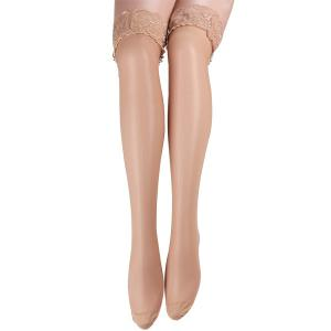 Skinny Lacework Brim Stockings - Yellowish Pink - One Size