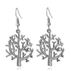 Tree of Life Dangle Hook Earrings